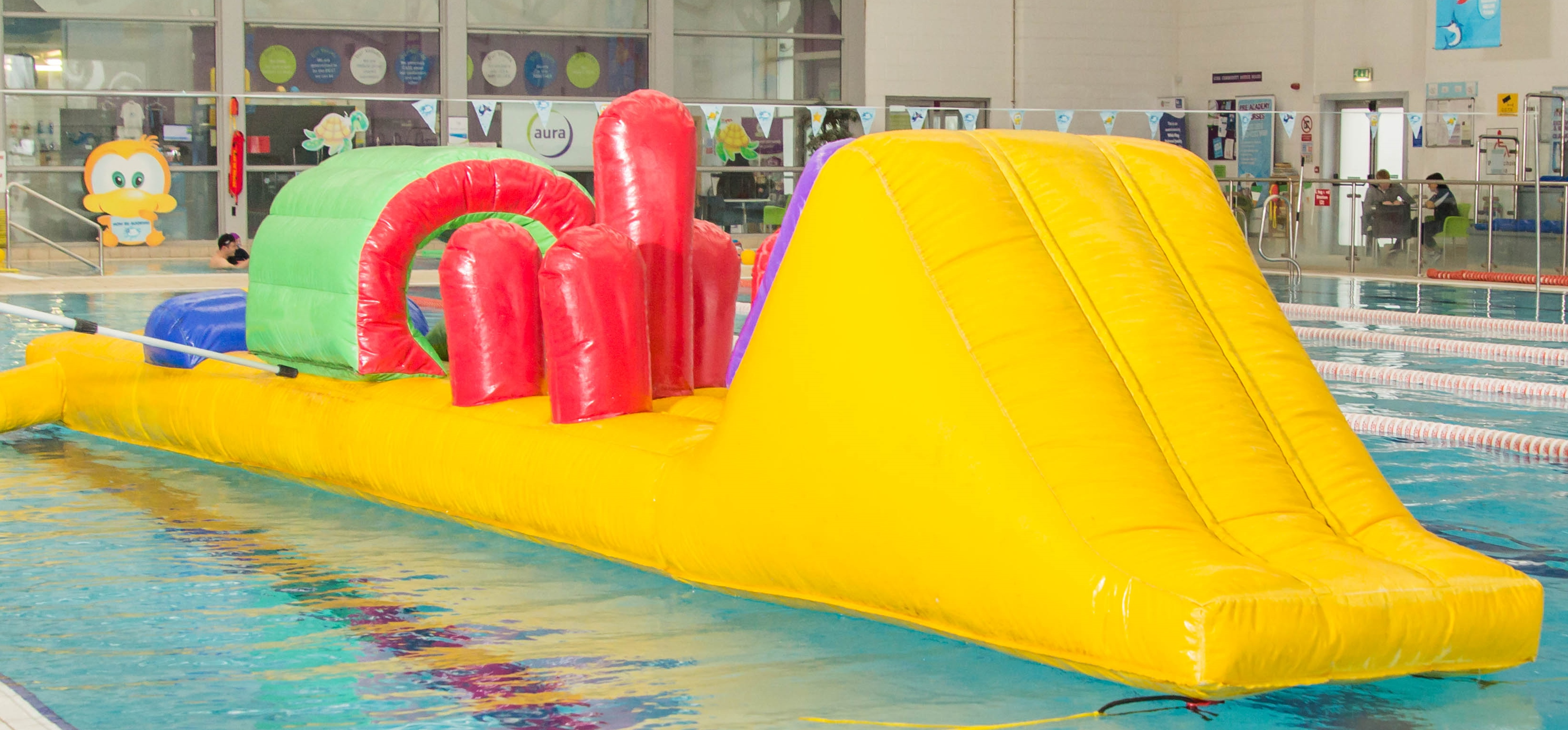 Inflatable family fun swim 39 s aura leisure centres - Drogheda leisure centre swimming pool ...